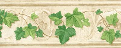 19205b ivy leaf wallpaper border 1